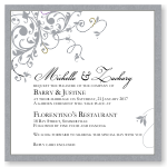 Silver Flourish Wedding Invitation Template