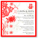 Red Double Happiness Wedding Invitation Template