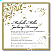 Gold Flourish Wedding Invitation