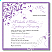 Purple Flourish Wedding Invitation