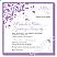 Purple Flourish Wedding Invitation