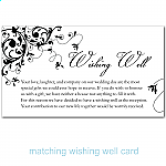 Black Flourish Wedding Wishing Well Card