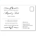 Calista Wedding RSVP Postcard