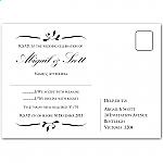 Calista Wedding RSVP Postcard