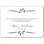 Calista Wedding Thank You Card