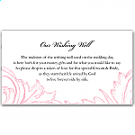 Pink Damask Wedding Wishing Well Card
