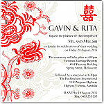 Double Happiness Red Wedding Invitation