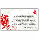 Double Happiness Red Wedding Wishing Well Card
