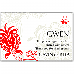 Double Happiness Red Wedding Place Card