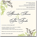 Delicate Autumn Leaves Wedding Invitation