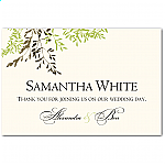 Delicate Autumn Leaves Wedding Place Card