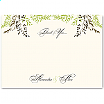 Delicate Autumn Leaves Wedding Thank You Card
