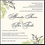 Delicate Autumn Leaves Wedding Invitation