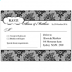 French Classic Wedding RSVP Postcard