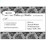 French Classic Wedding RSVP Postcard