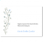Wildflowers Blue Wedding Thank You Card