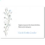 Wildflowers Blue Wedding Thank You Card