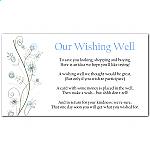 Wildflowers Blue Wedding Wishing Well