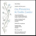 Wildflowers Blue Wedding Invitation