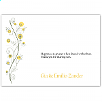 Wildflowers Gold Wedding Thank You Card