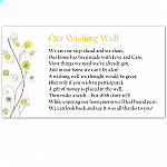 Wildflowers Gold Wedding Wishing Well
