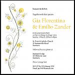Wildflowers Gold Wedding Invitation