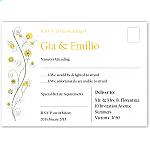 Wildflowers Gold Wedding RSVP Postcard