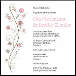 Wildflowers Pink Wedding Invitation