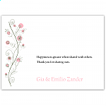 Wildflowers Pink Wedding Thank You Card