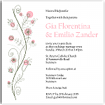 Wildflowers Pink Wedding Invitation