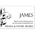 Modern Classic Black Wedding Place Card