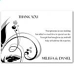 Modern Classic Black Wedding Thank You Card