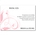 Modern Classic Pink Wedding Thank You Card