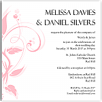 Modern Classic Pink Wedding Invitation