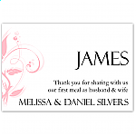 Modern Classic Pink Wedding Place Card