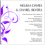 Modern Classic Purple Wedding Invitation