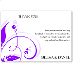 Modern Classic Purple Wedding Thank You Card