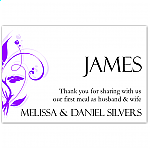 Modern Classic Purple Wedding Place Card