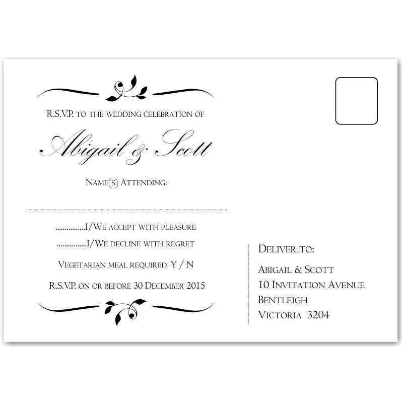 wedding rsvp wording and card etiquette shutterfly rsvp wedding