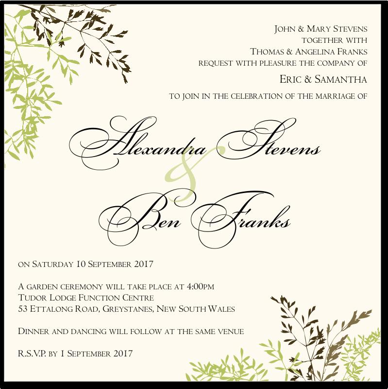 Budget Wedding Invitations Invitation Delicate Autumn Leaves ...