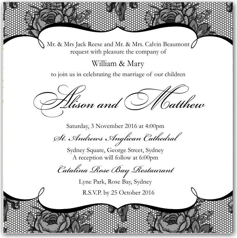 Budget Wedding Invitations RSVP French Classic ...