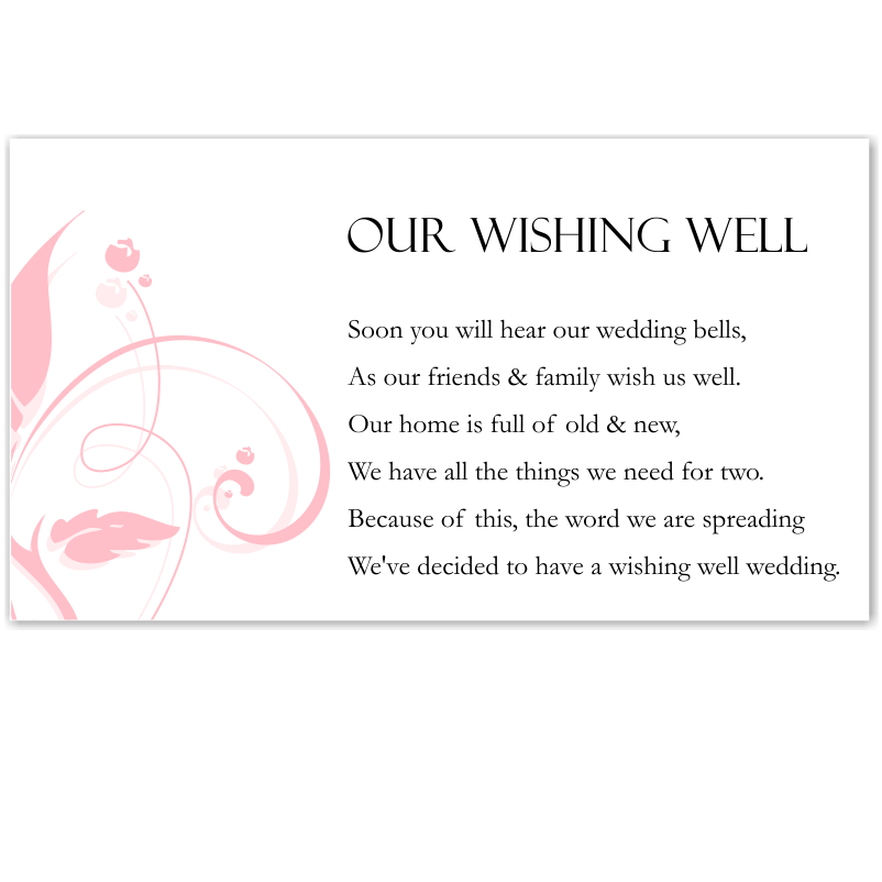 Budget Wedding Invitations Wishing Well Cards Modern Classic Pink