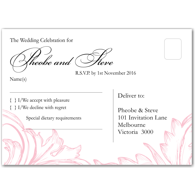 budget wedding invitationsrsvp damask pink budgetweddingstationery