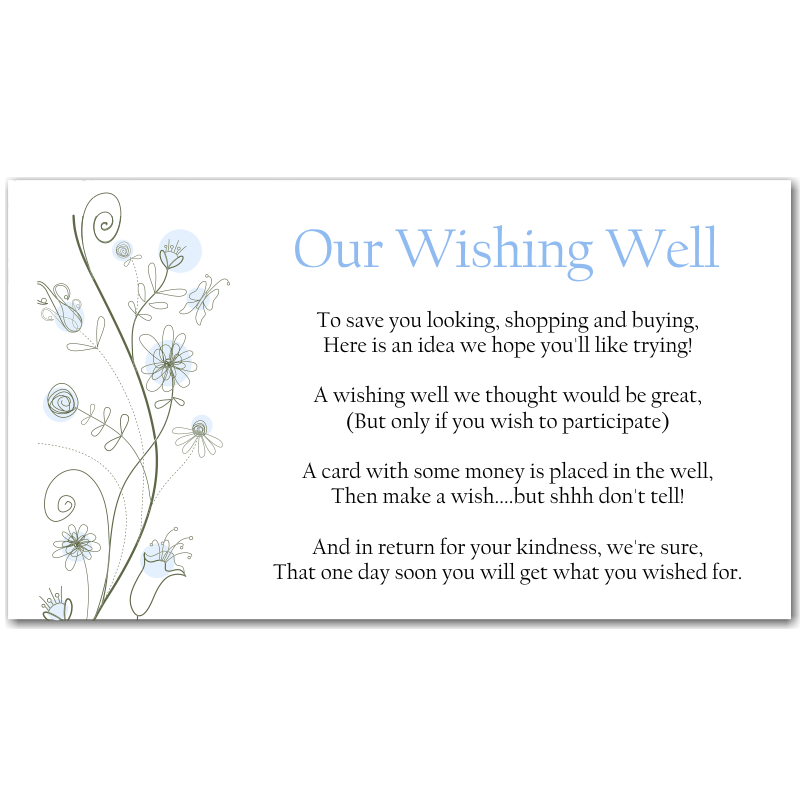 Budget Wedding Invitations Wishing Well Cards Wildflowers Blue ...
