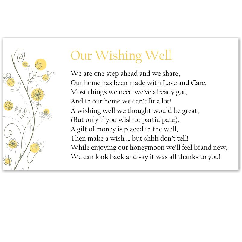Wedding Wishing Well Invitations: Budget Wedding Invitations RSVP Wildflowers Gold