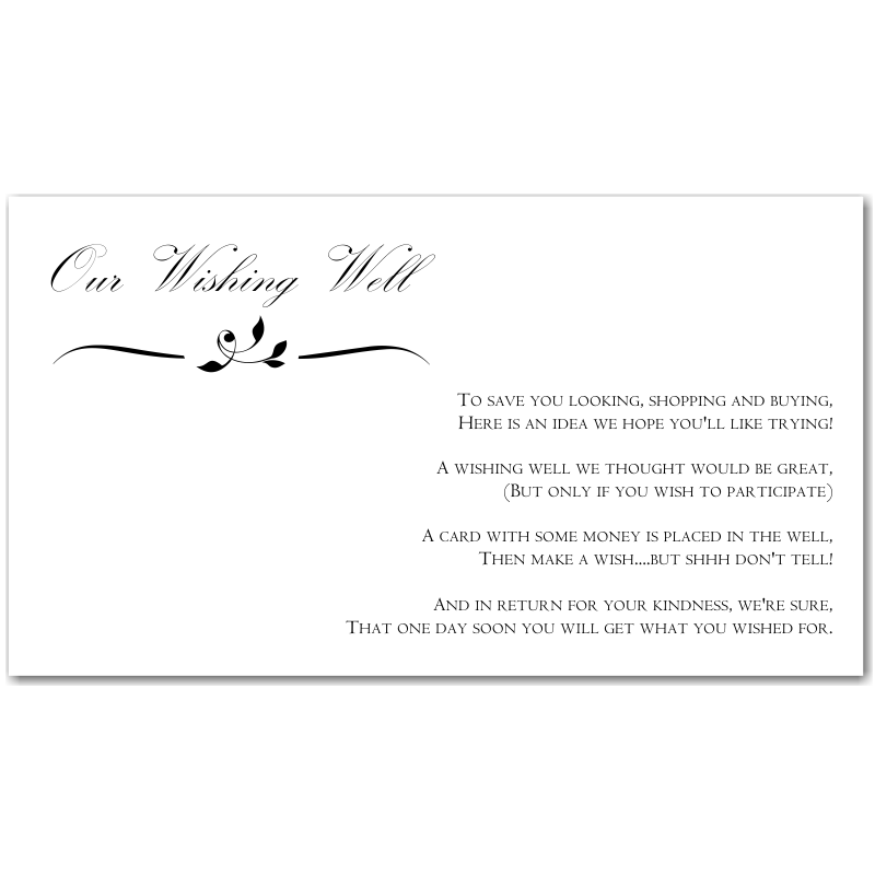 Budget Wedding Invitations Wishing Well Cards Calista