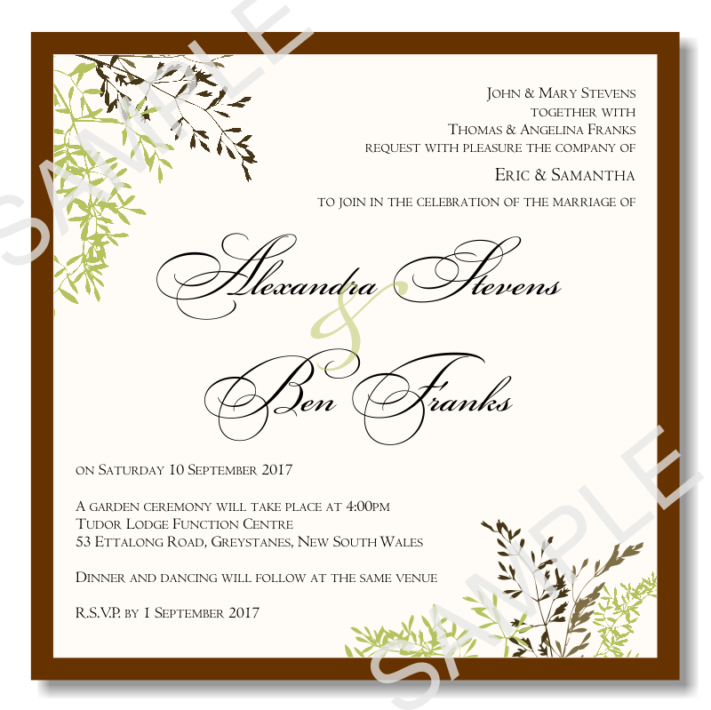 wedding invitation templates free budget wedding invitations template wedding autumn leaves 9734