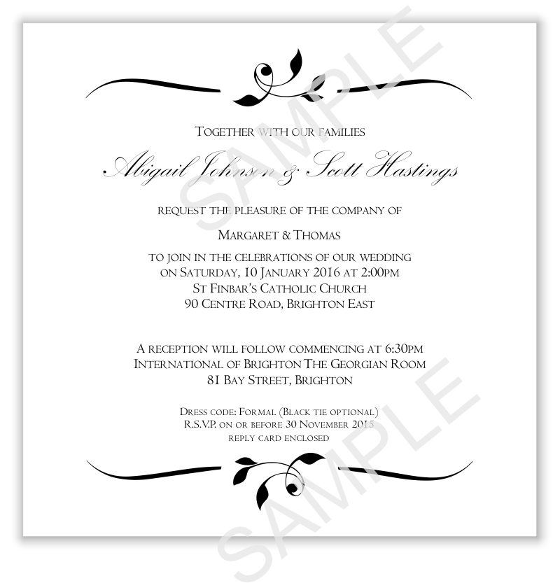 Budget Wedding Invitations Template Invitation Wedding Calista ...