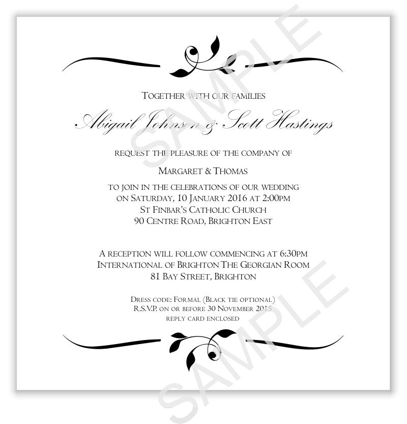 Budget Wedding Invitations Template Invitation Wedding Calista ...