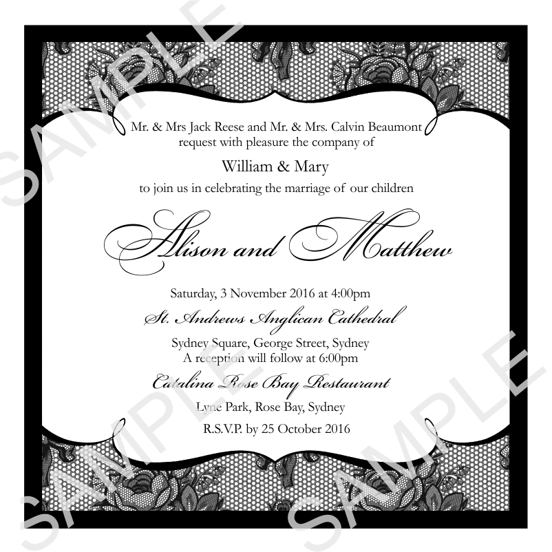 Budget Wedding Invitations Template Wedding French Classic ...